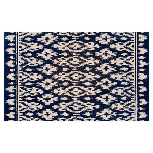 Resource Decor Safi Global Bazaar Blue Beige Wool Patterned