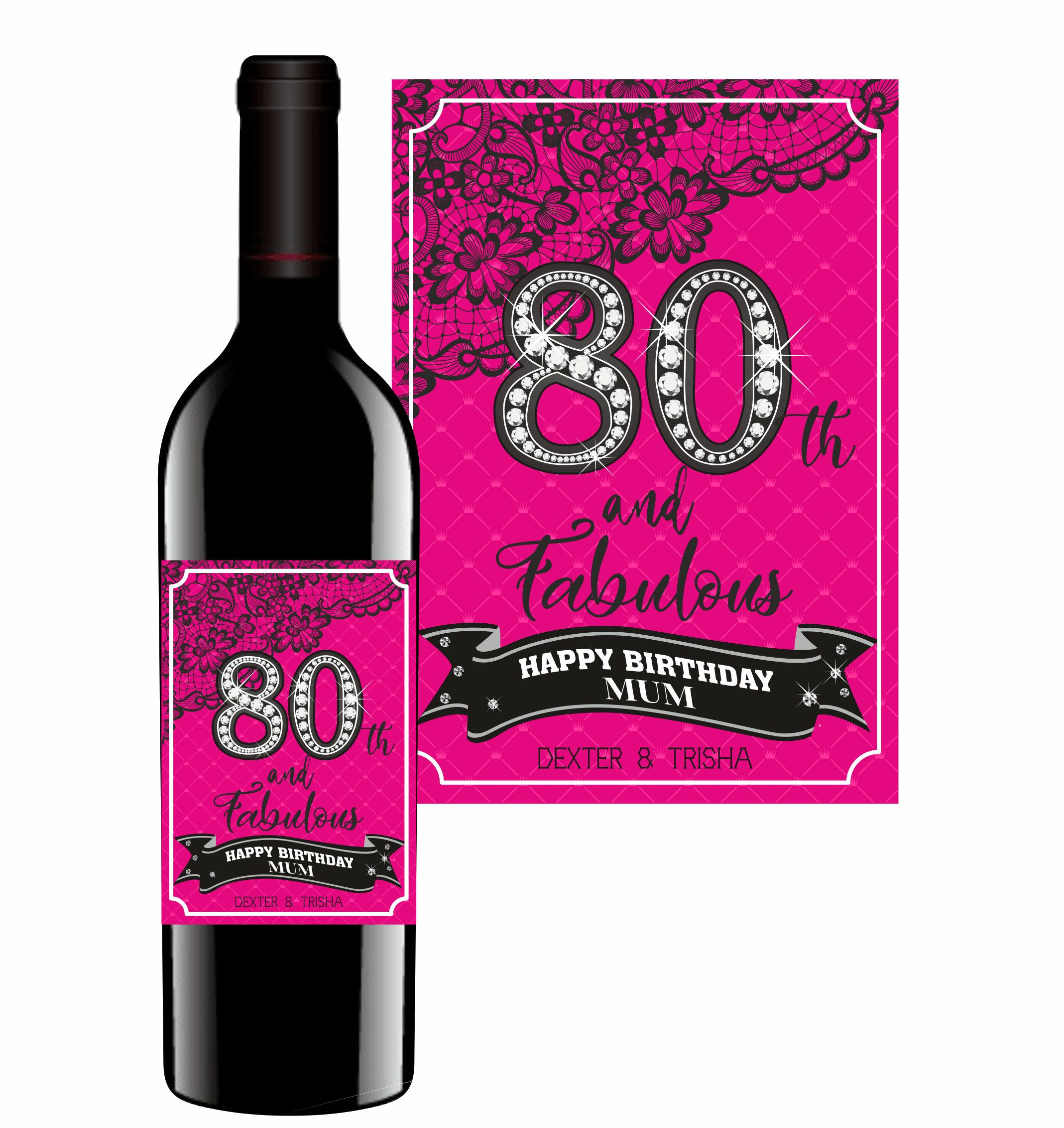 40TH,50TH BIRTHDAY  PARTY STICKERS ANY AGE PERSONALISED GLOSS COCKTAIL 30TH