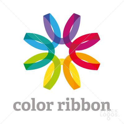 40 Rainbow Colored Logo Designs Ribbon Logos Ribbon Logo