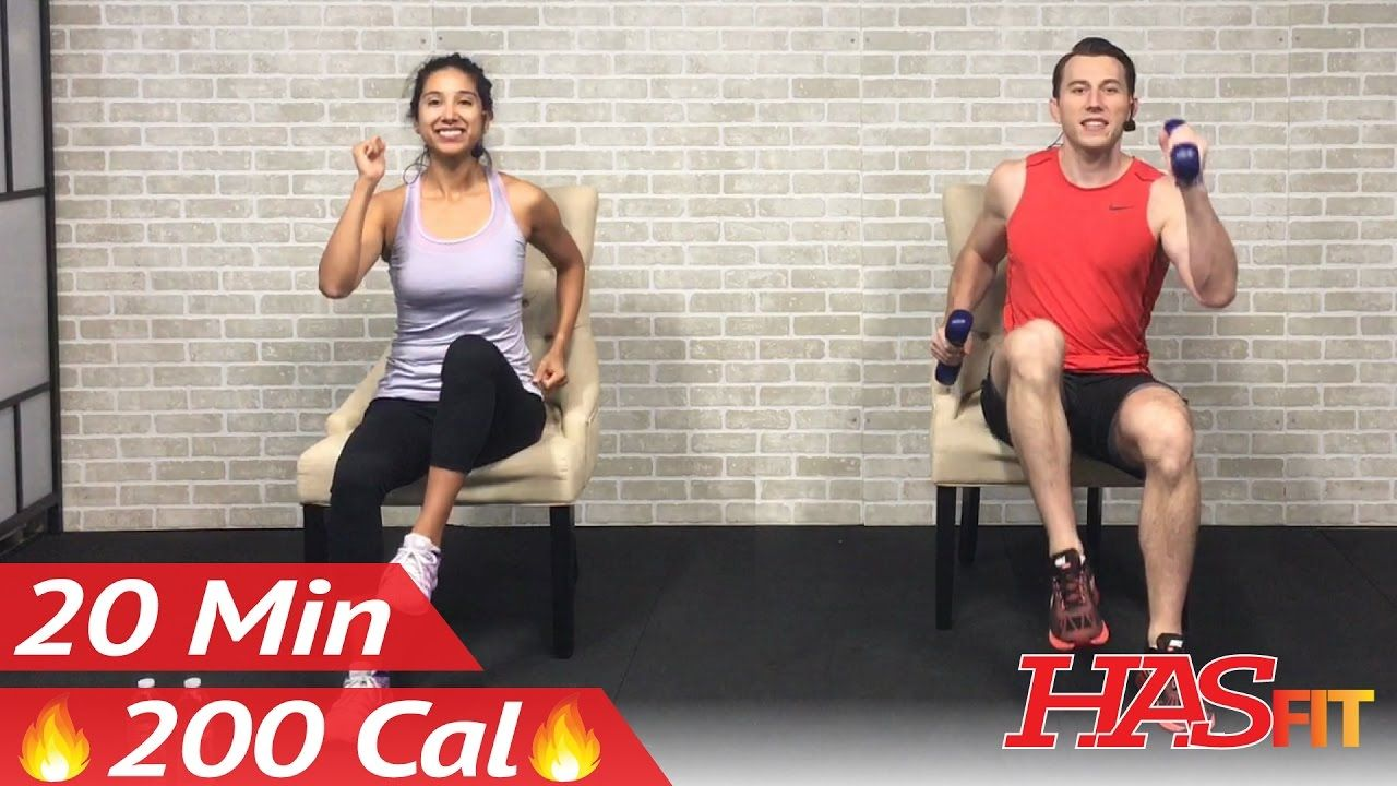 20 Min Chair Exercises Sitting Down Workout Seated Exercise For Seniors Elderly Everyone Else Youtube Senior Fitness Chair Exercises Seated Exercises