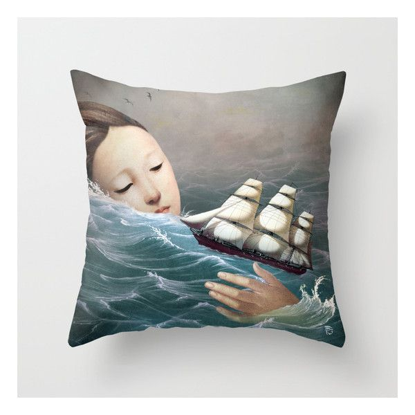 Voyage Throw Pillow ($20) ❤ liked on Polyvore featuring home, home decor and throw pillows