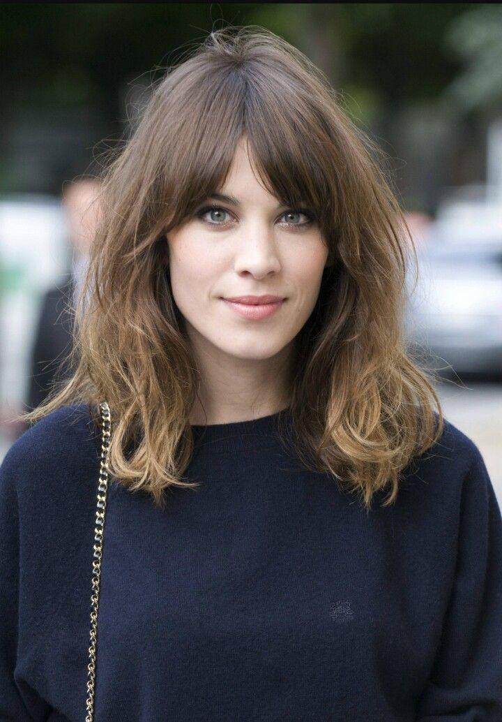 Split Fringe Long Face Hairstyles Alexa Chung Hair Alexa Chung Haircut