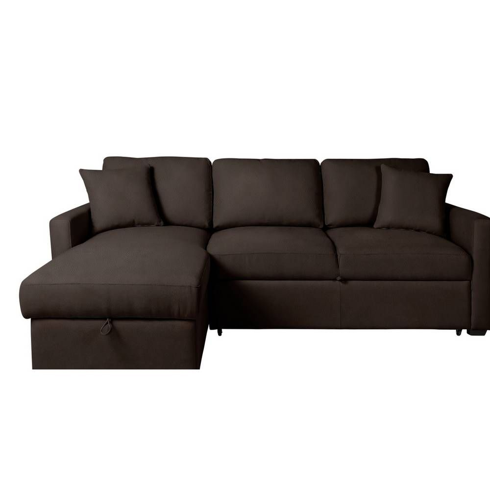Buy Argos Home Reagan Left Corner Sofa Bed Dark Brown Sofa Beds Argos Corner Sofa Bed Sofa Bed Corner Sofa