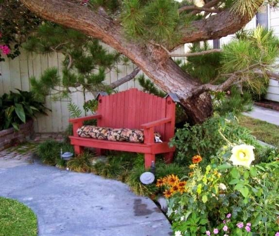 Landscaping Ideas Inspiration Front Yard Yard Benches Front