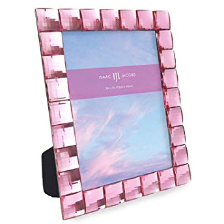 Isaac Jacobs International Jewel Picture Frame 5x7 Light Pink