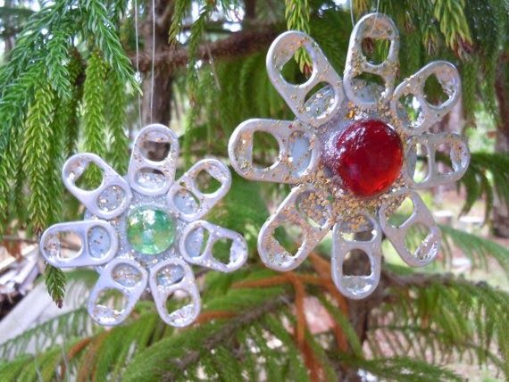 The Art Of Up Cycling Diy Christmas Decorations Ideas Snowflakes Made From Recyc Recycled Christmas Tree Handmade Christmas Decorations How To Make Ornaments