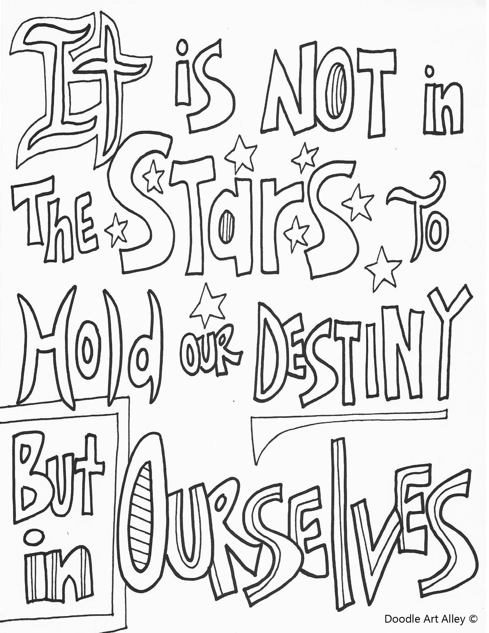 Shakespeare Quote Coloring Pages Coloring Pages Doodle Art