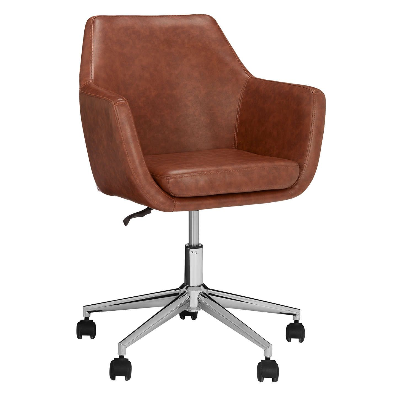 John Lewis Partners Reid Faux Leather Office Chair Tan Chair