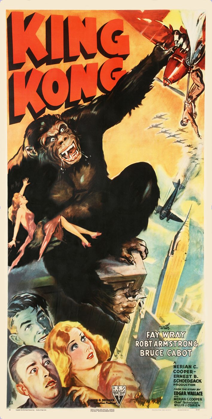 A3 King Kong Movie Movie wall Home Posters Retro Art #10