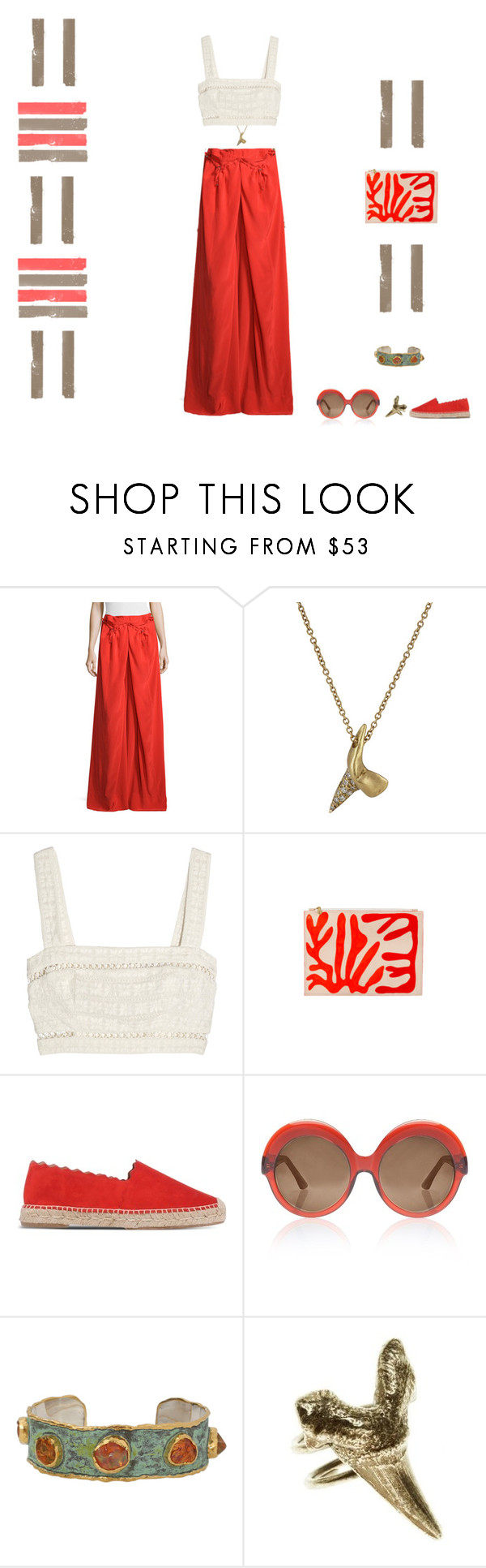 """""""Coral Gables"""" by southernreef ❤ liked on Polyvore featuring KaufmanFranco, Finn, Zimmermann, Chloé, Cutler and Gross, Victor Velyan and Luv Aj"""