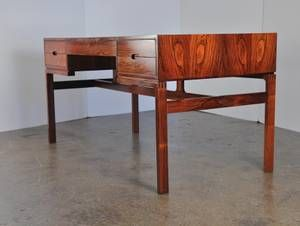 Items Similar To Arne Wahl Iversen Rosewood Desk Danish Modern Writing Table Sleek Design On Etsy