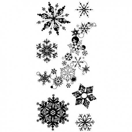 Tampon Clear Inkadinkado Snowflakes A Plenty Tatouage Flocon De Neige Flocons De Neige Tattoo Et Flocon De Neige Dessin