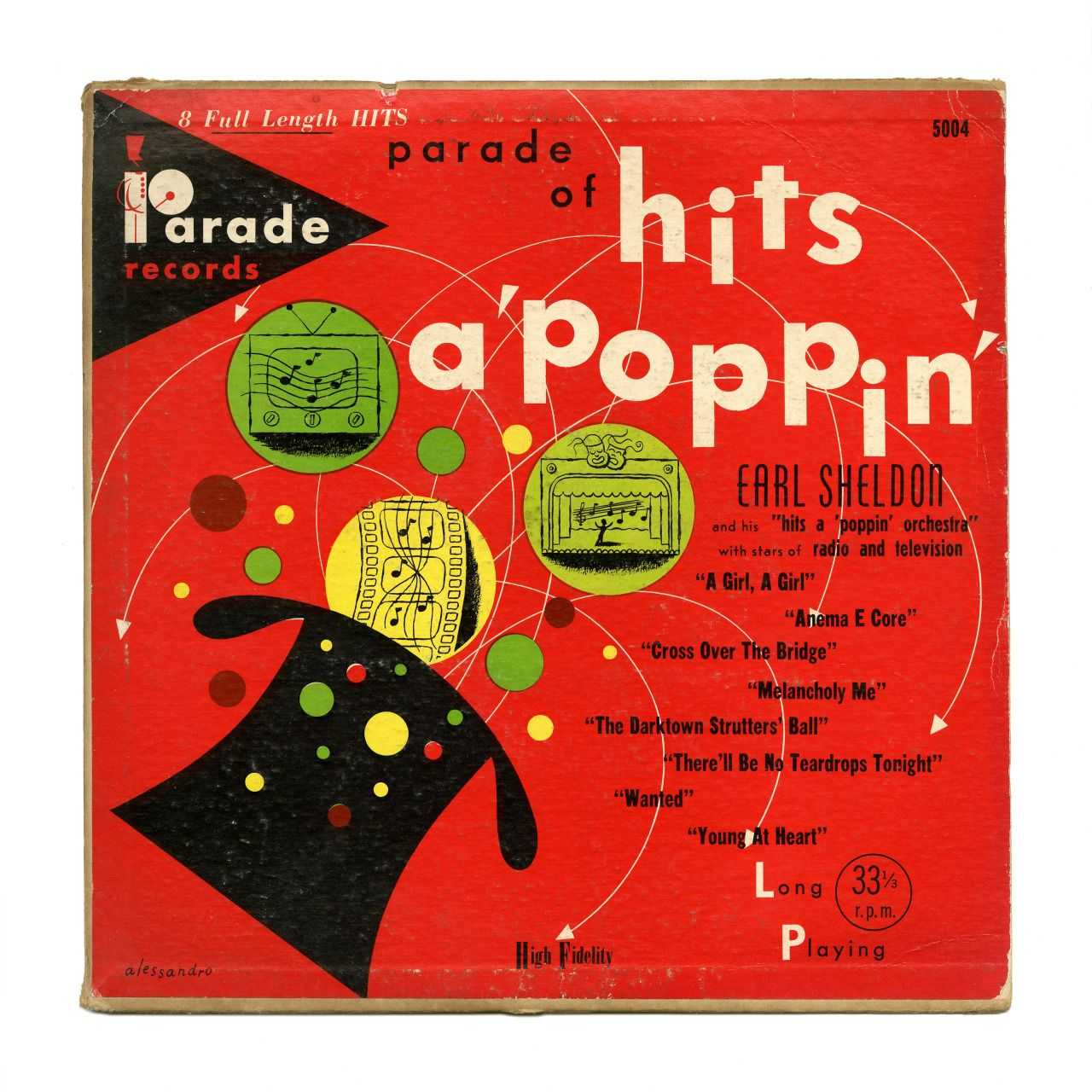 "Parade Of Hits A 'Poppin' Earl Sheldon and his ""Hits A 'Poppin' Orchestra Parade Records/USA"
