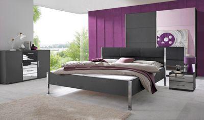 Edles Schlafzimmer In 2 Farben Mit Stilvollen Chrom Und