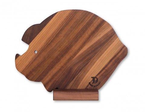 tagliere legno maialino