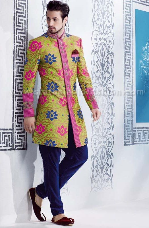 Mens wear, groom wedding dress, groom sherwani, designer indo ...
