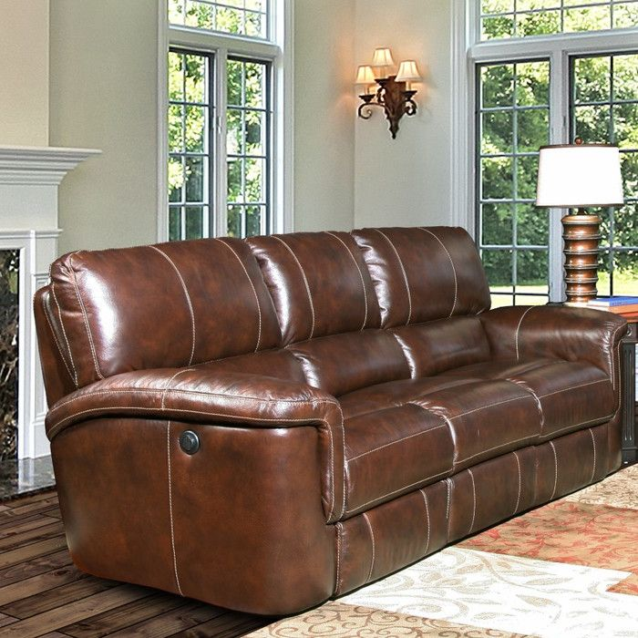 Blair Dual Leather Reclining Sofa in 2019 | Furniture | Leather ...