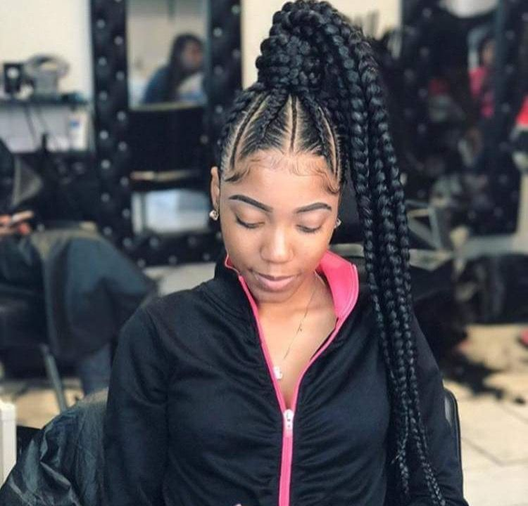 If You Like What You See Follow Me Pin Asianmula Give Me More Board Ideas Braided Ponytail Hairstyles Hair Styles Box Braids Hairstyles