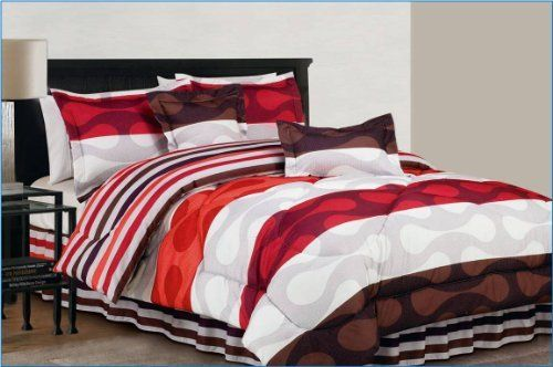 Duck River Textile Donelly Oversize and Overfilled Reversible 6Piece King Comforter Set Orange * You can get additional details at the image link.