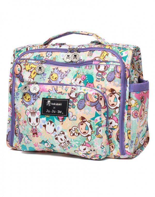 07be093abe Be B.F.F. Diaper Bag Perky Toki  150 complete bag + custom stroller clips    a Strawberry Milk custom Fob by Andrea