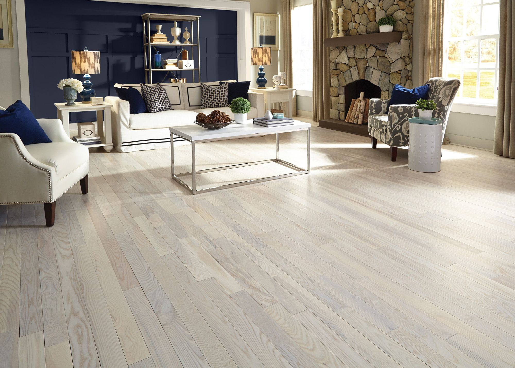 The Light Tones Of Bellawood Matte Carriage House White Ash Hardwood Make A Room Feel Larger While The Matte Fin Ash Wood Floor House Flooring Hgtv Dream Home