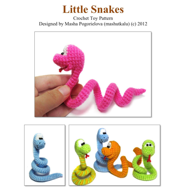 Little Snake Pdf Crochet Toy Pattern By Mashutkalu On Etsy