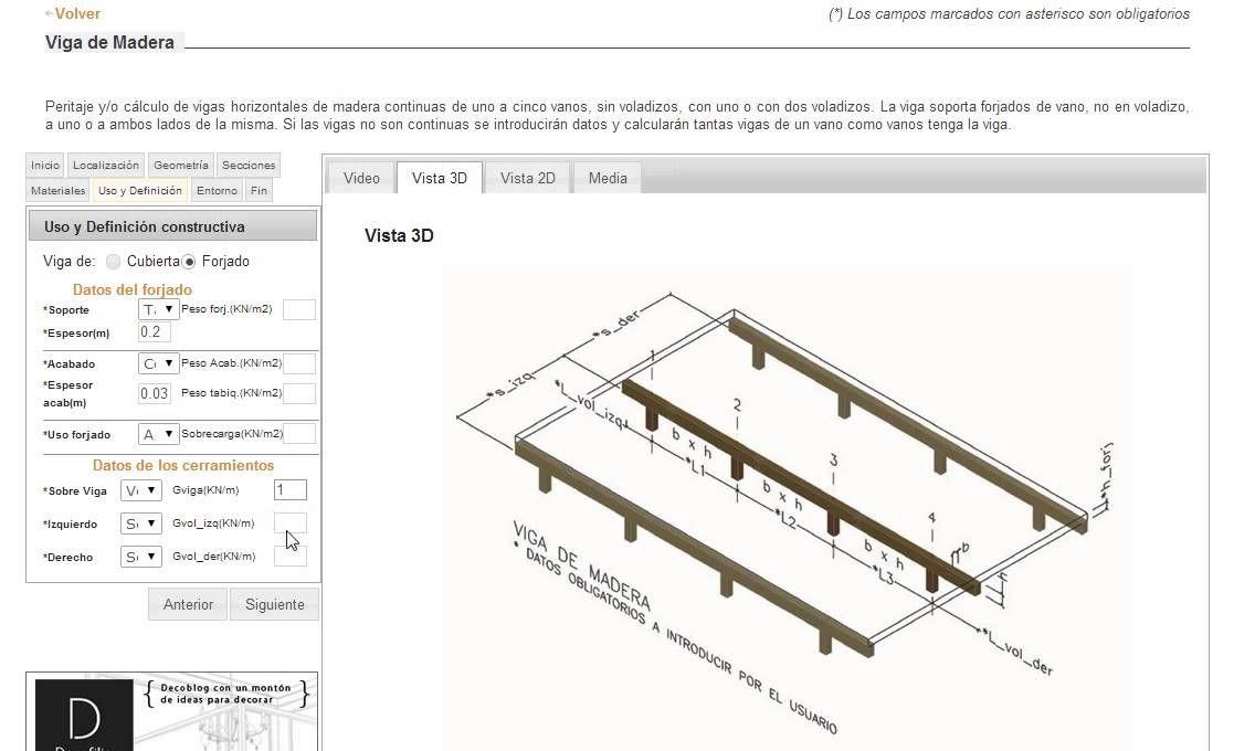 Tutorial para #calcular #vigas de #madera #online mediante la herramienta e-struc.com