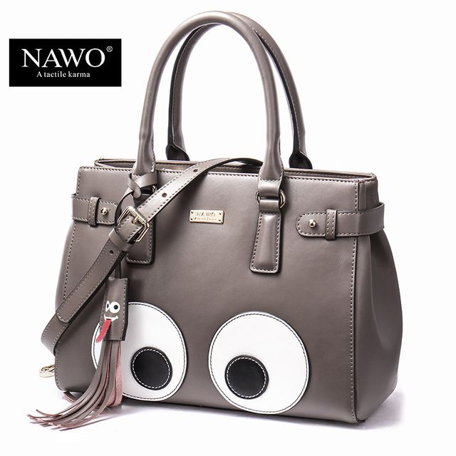 Nawo 2017 New Korean Fashion Handbags Eyes Shoulder Bag Messenger Handbag Cute Cartoon Bags