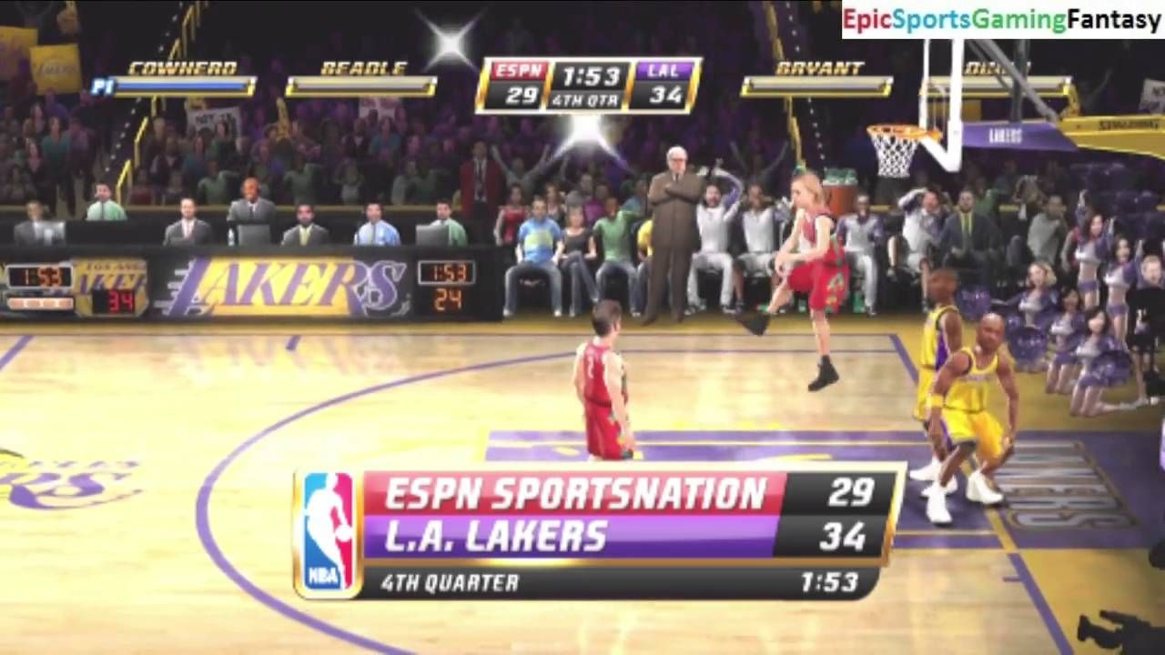 Espn Sportsnation Team Vs The Los Angeles Lakers On Insane