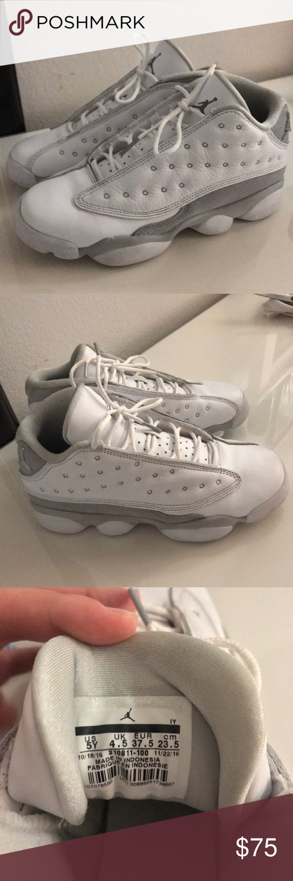"innovative design 5f7d8 057ac Air Jordan 13 Retro Low BG (GS) ""Pure Money"" Air Jordan Retro 13 Low, These  are a Kids size 5 but will fit a women s size 6.5-7 Jordan Shoes Sneakers"