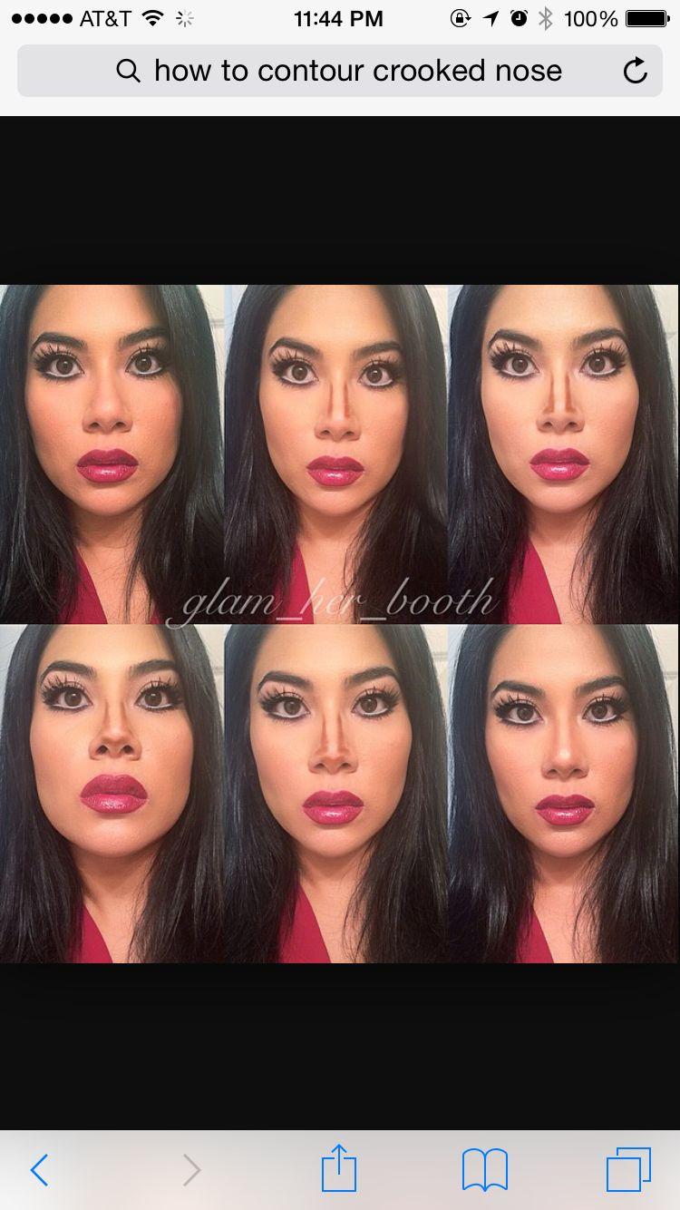 Crooked nose | Makeup | Nose makeup, Nose contouring