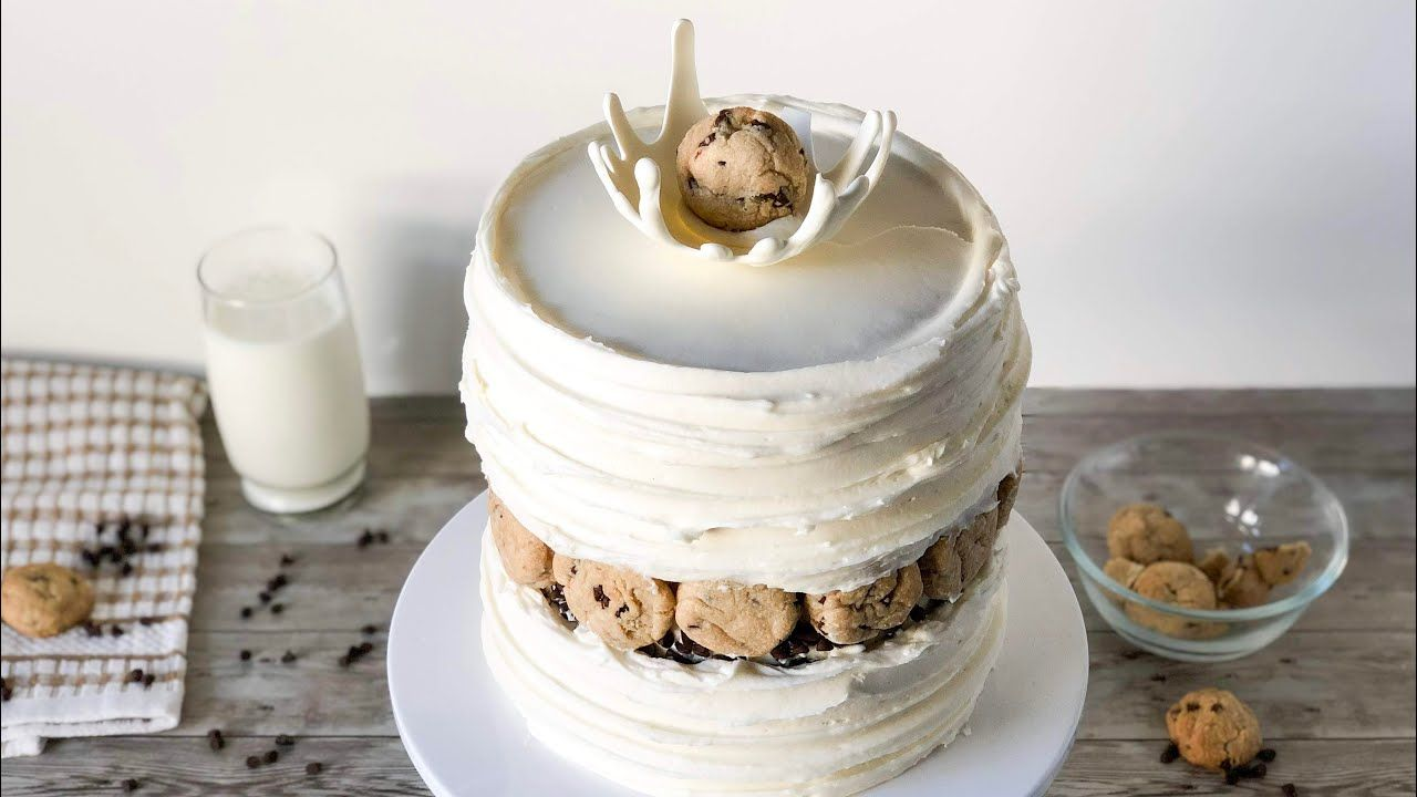 How to make a whimsical milk cookies cake milk cookies
