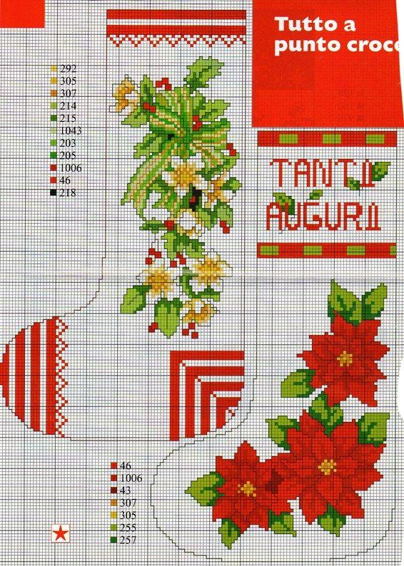 Conosciuto L'angolo di Malù | natale | Pinterest | Punto croce, Natale e Calze QT18