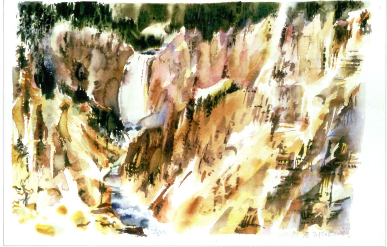 "Erdle - Canyon, Yellowstone, 14.5"" x 21.5"" 2004"