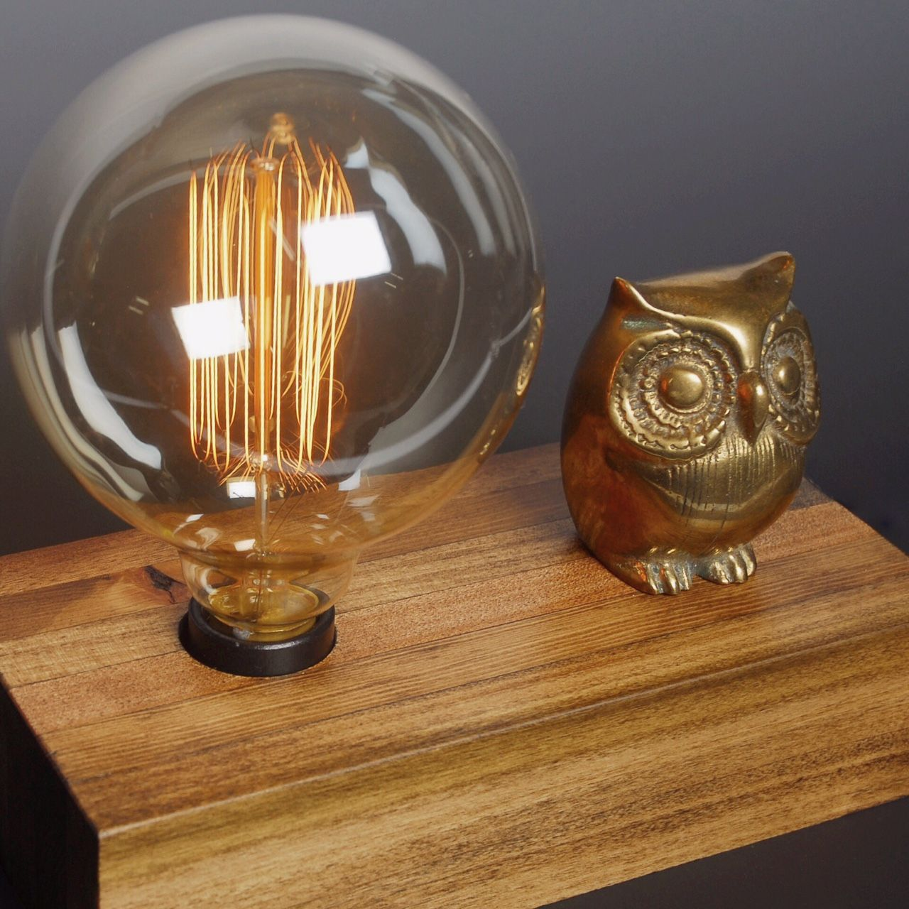 Lone Owl Touch Sensor Lamp Handcrafted Lamp Owl Lamp Lamp
