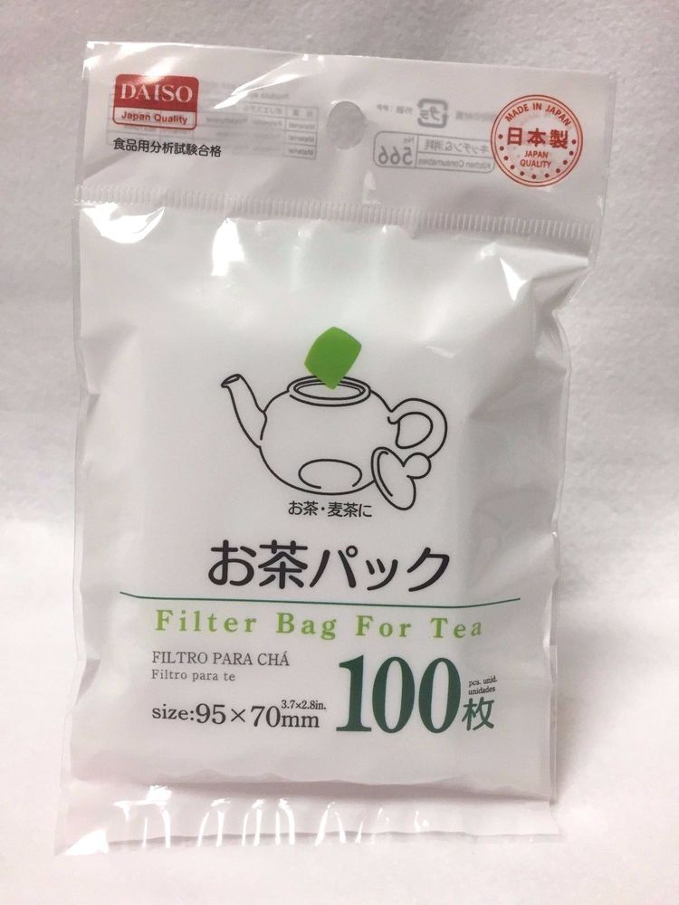 Daiso japan filter bag for loose tea disposable 100pcs made in japan F/S