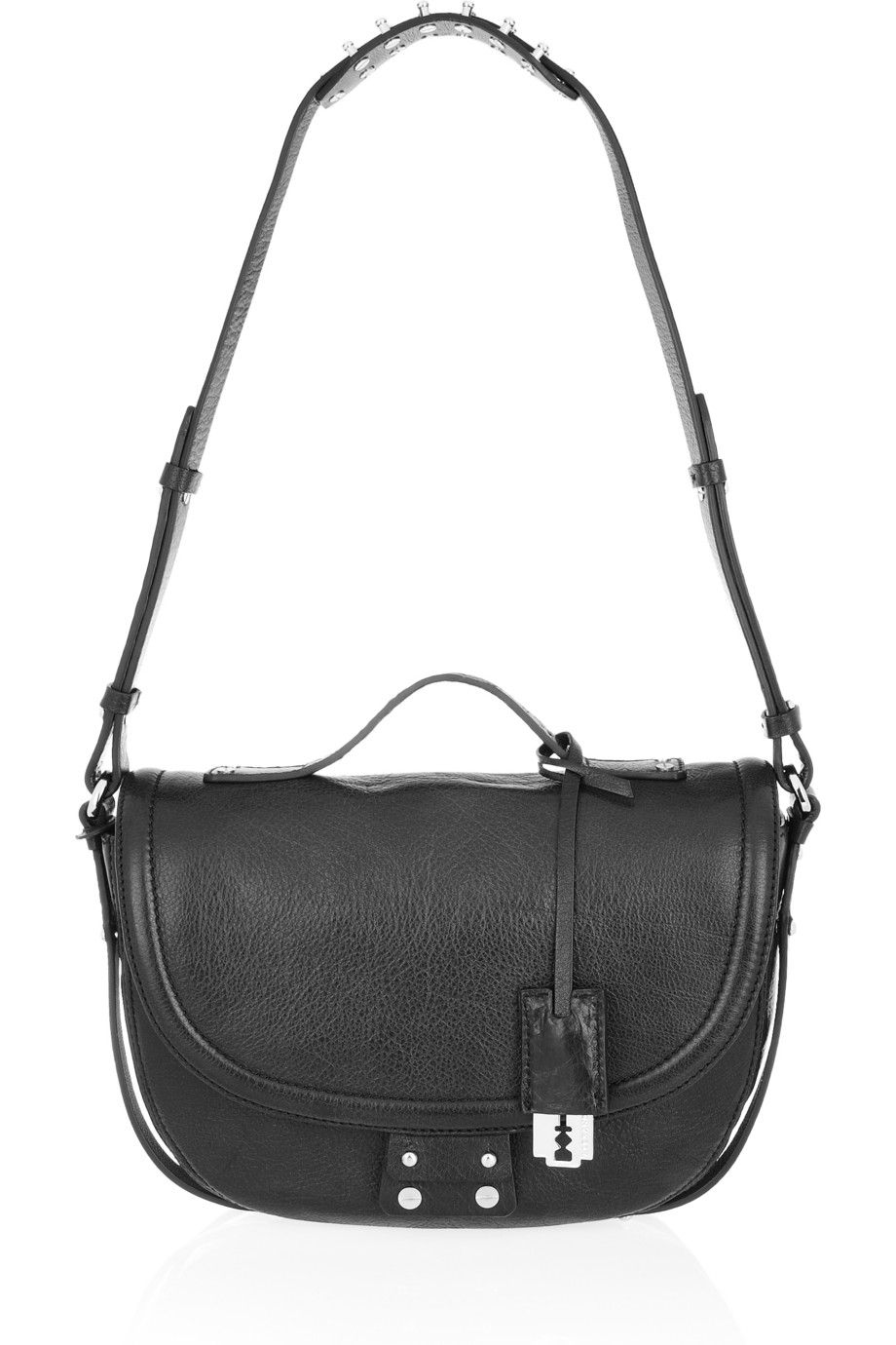 a4f54a85ea mcq alexander mcqueen clerkenwell leather shoulder bag