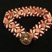 tutorial and pattern jewelry set Ginko pattern Beaded bracelet  earrings pattern  Beading tutorial and pattern jewelry set Ginko pattern Beaded bracelet  earrings pattern...
