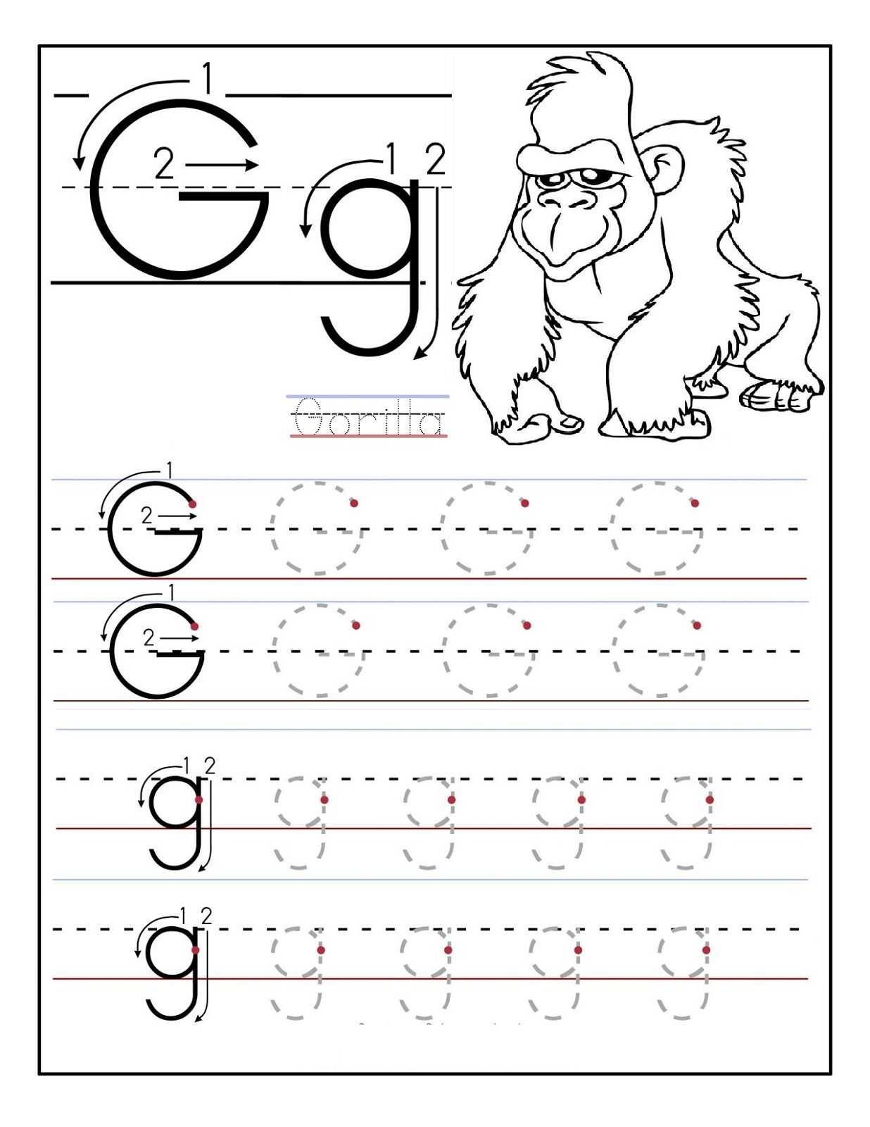 Trace The Letters Worksheets Learning To Write Letter