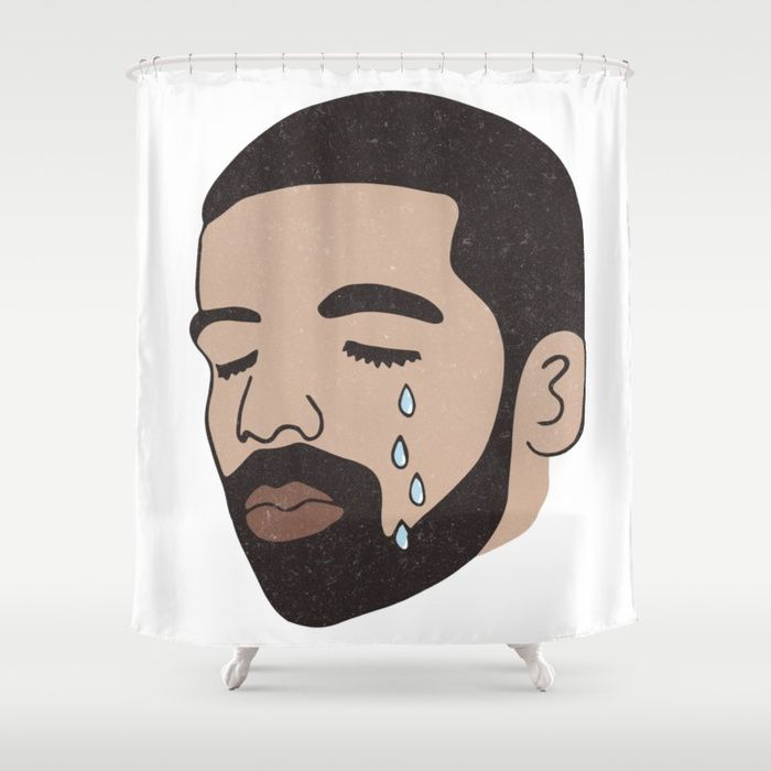 Buy Drake Crying Shower Curtain By Jv Worldwide Shipping Available At Society6