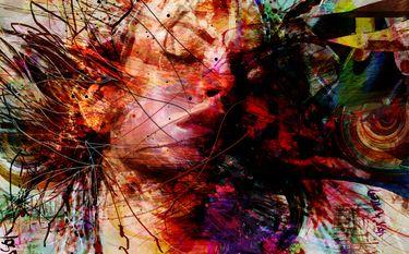 "Saatchi Online Artist yossi kotler; Mixed Media, "" supernova 1987"" #art"