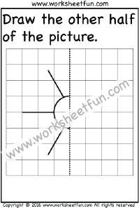 Draw the other half – Sun – One Worksheet | Preschool Worksheets ...