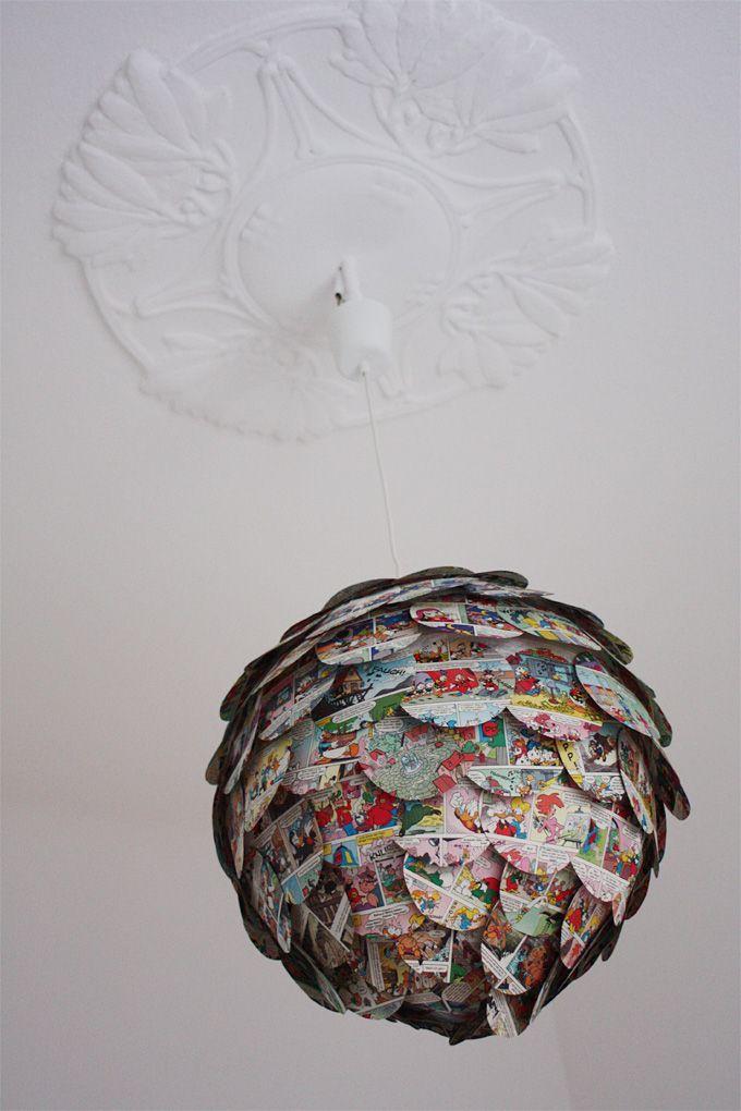 Lampenschirm DIY mit Vintagebuchseiten oder im Mix mit Gold und ...