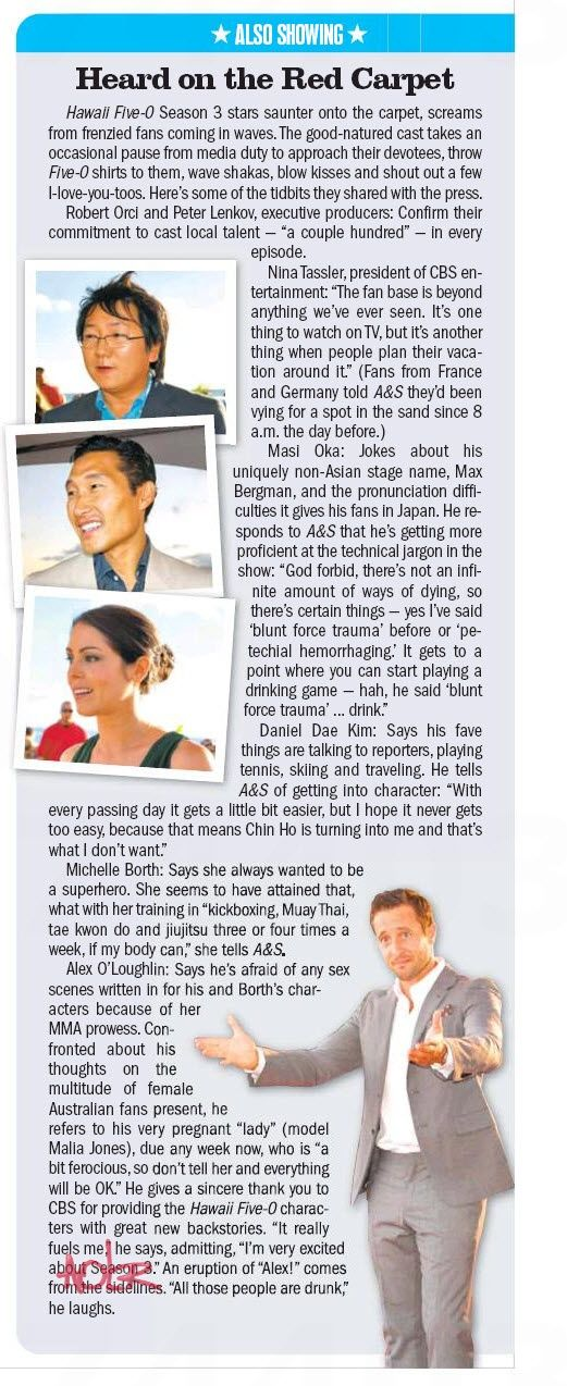 [Scan] Heard on the SOTB3 red carpet | MidWeek 10/10 #H50