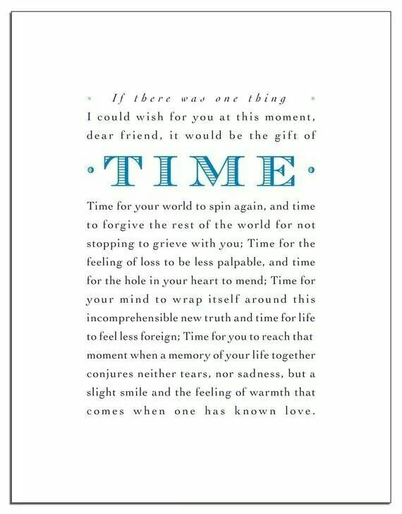 Gift Of Time Quotes Sympathy Cards Sympathy Quotes Bereavement