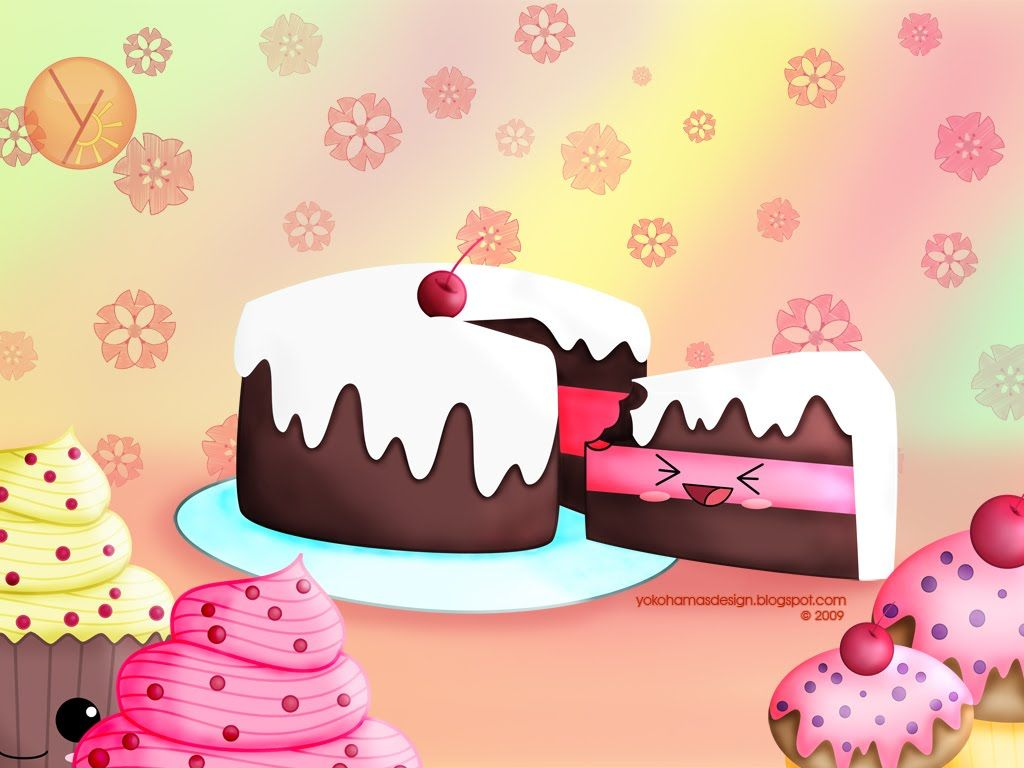 kwaii Kawaii Cakes Wallpaper - Kawaii? Wallpaper ...