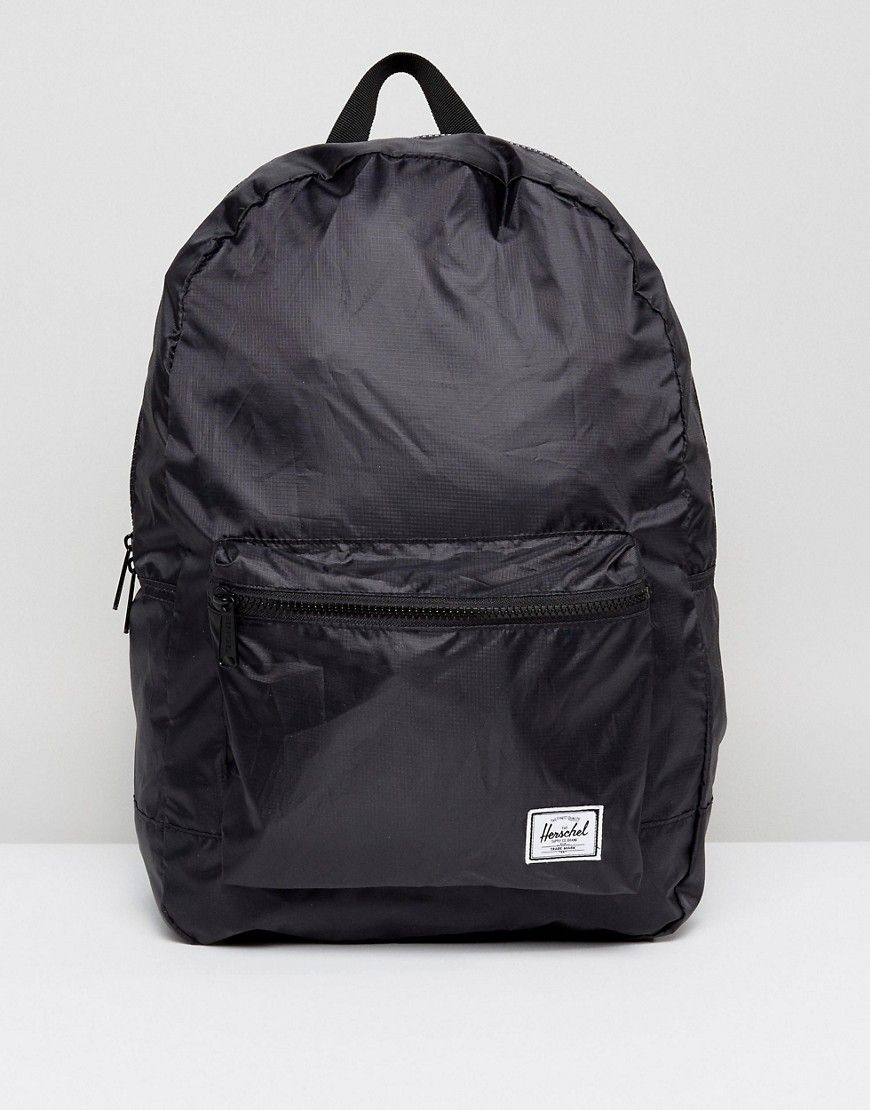 2cbc16aab979 HERSCHEL SUPPLY CO . PACKABLE DAYPACK IN BLACK 24.5L - BLACK.   herschelsupplyco  bags  polyester  backpacks  cotton