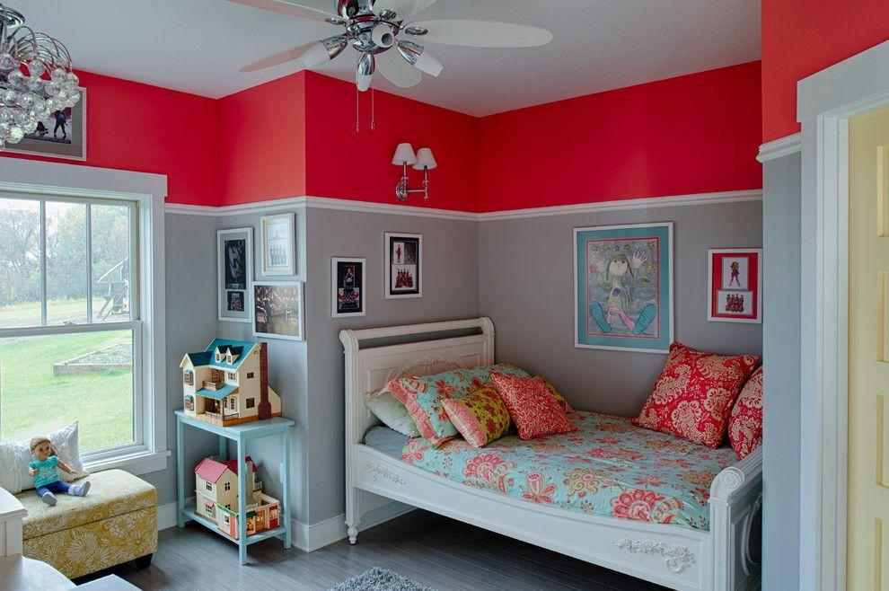 Peinture murale pour une ambiance d\'intérieur gaie | Rouge framboise ...