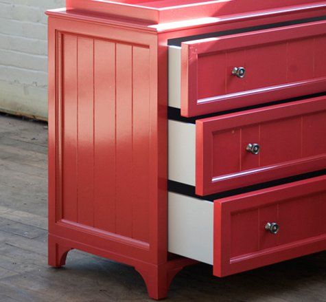 Superieur Red Changing Table But Distressed (instead Of Navy)