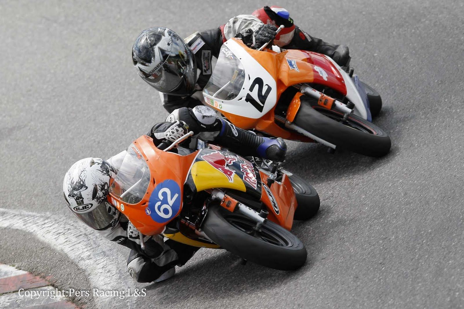 12-year ols kids racing on Honda NSF100 motorcycles. Nice ...